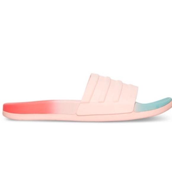 190f15993fb7 Adidas Coral Foam Ombré Slides