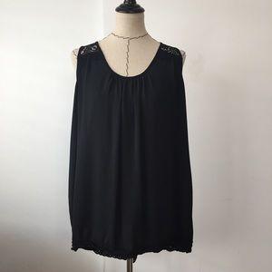 Karen Kane Tops - Black lace high low Karen Kane tank top