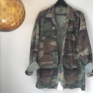 Vintage Jackets & Blazers - Vintage Camo Jacket LARGE
