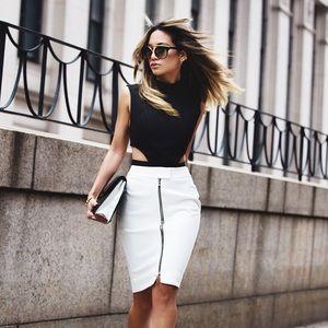 L'AGENCE Dresses & Skirts - [l'agence] BLACK front zip skirt