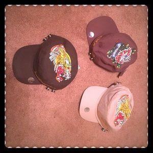Ed Hardy Accessories - Bundle of 3 Ed Hardy Trucker Hats