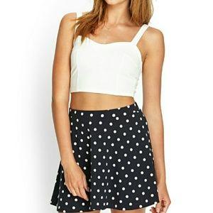 Forever 21 Dresses & Skirts - Forever 21 Polka Dot Skater Skirt