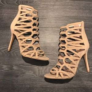 Nude strappy heels - Lola Shoetique
