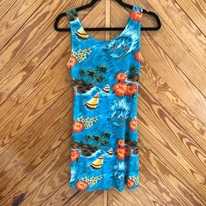 Vintage Hawaiian Summer Dress