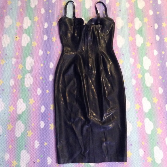 Dresses - ATSUKO KUDO COUTURE LATEX PINUP DRESS SZ L