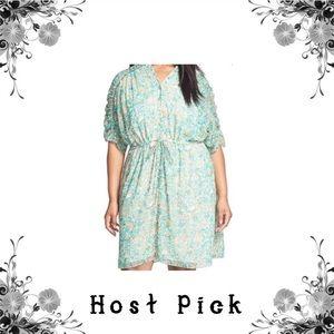 🎉HP🎉 Adrianna Papell Leaf Print Sheath Dress