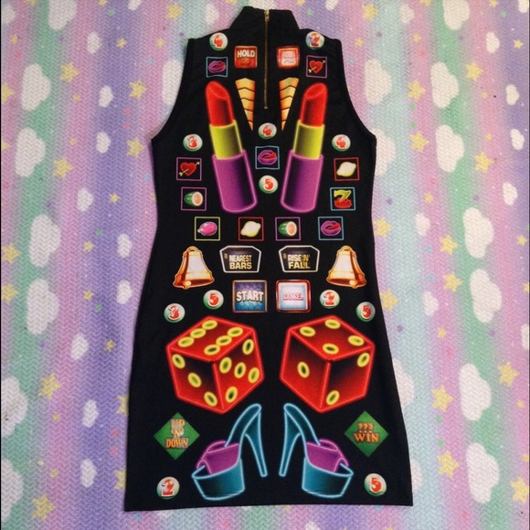 Dresses - NYMPHA SLOT MACHINE DRESS SZ LARGE WORN ONCE RARE