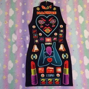 NYMPHA SLOT MACHINE DRESS SZ LARGE WORN ONCE RARE