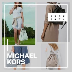 MK WHITE BACKPACK LRG Leather Knot