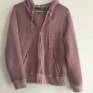 Kate Hill Tops - Kate Hill Plum Quilted Hoodie