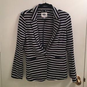 Striped Old Navy Cotton Blazer