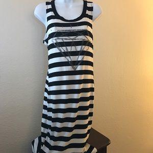 Material Girl Dresses & Skirts - Material Girl diamond black and white stripped
