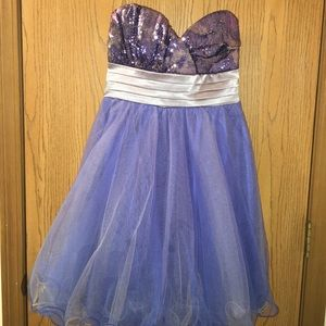 Sequin Hearts Dresses & Skirts - Blue sequin homecoming/prom dress