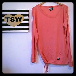 Vans Tops - VANS melon color soft cotton long sleeve