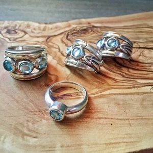 Jewelry - Sterling Silver and Blue Topaz Jewelry Set