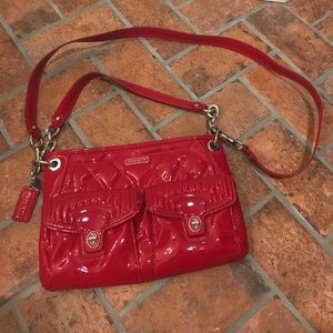Coach red patent poppy