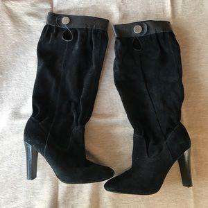 MICHAEL Michael Kors black suede boots.