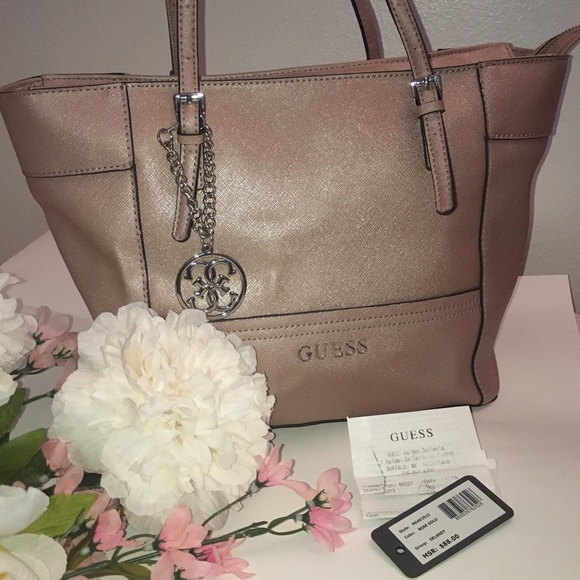 GUESS Delaney Classic Tote Bag ✨ Rose Gold ce0eb81a17a78