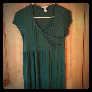 Three Seasons Maternity Dresses & Skirts - Green maternity/nursing maxi dress