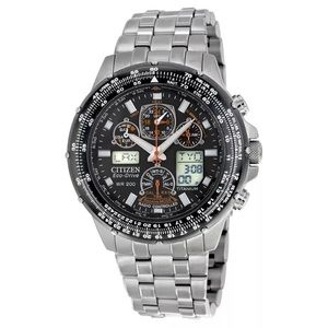 Citizen Other - Citizens Men's Eco Drive Titanium Skyhawk Watch