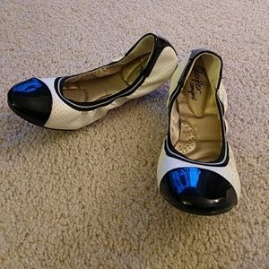 Shoes - Black and White Flats