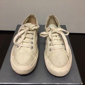 Superga Shoes - Women's Off White Supergas, Size 7 1/2/ EU 38.