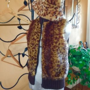 Tiara Jackets & Blazers - Faux fur vest