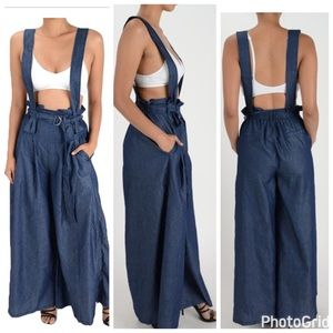 Wide leg overalls