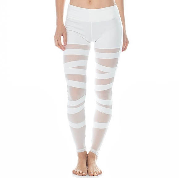 e5d114e0d166c Electric Yoga Pants | Ballerina Mesh Panel Bandage Leggings | Poshmark