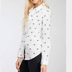 Forever 21 Tops - Forever 21  Mickey Mouse Buttondown