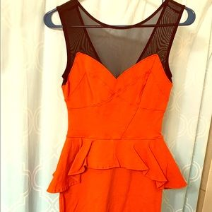 Orange dress by BeBe