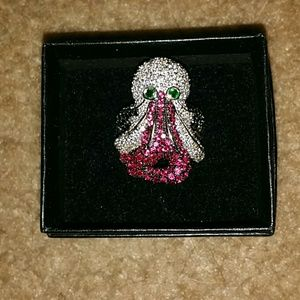 Octopus gemstone ring
