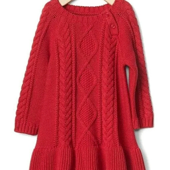2ace729a0edce GAP Dresses | Baby Girl Cable Knit Sweater Dress | Poshmark