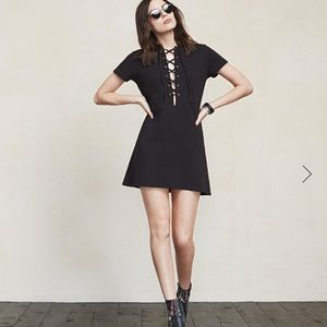 Reformation lace up dress