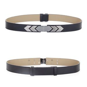 BCBGMaxAzria Accessories - New! BCBGMAXAZRIA Black & Silver Houndstooth Belt