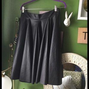 Zara Skirts - BNWT.  Zara A-line faux leather skirt