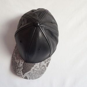 Gents Accessories - Faux Leather snakeskin baseball cap