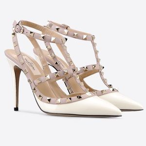 Valentino Shoes - Valentino Rockstud Ankle Strap Pumps