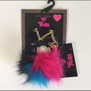 Betsey Johnson XOX Trolls Handbag Dangle NWT