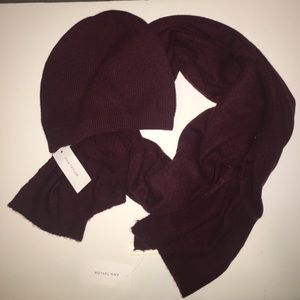 Anne Taylor Cashmere Scarf & Hat