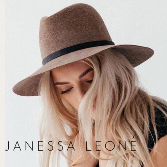 Janessa Leone Wegner Hat Wool Felt Fedora 3790770d8e02