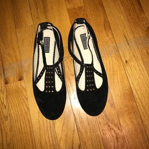 Deena & Ozzy Shoes - Black studded flats