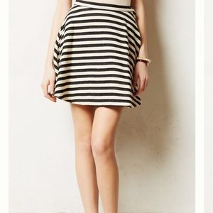 Anthropologie Stripeswing Skirt
