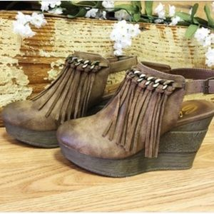Sbicca Shoes - NEW Sbicca Fringe Open Back Booties!