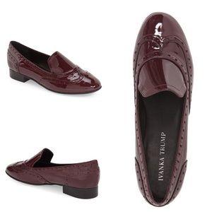 Ivanka Trump Shoes - 'Octavie' Leather Loafer, Ivanka Trump sz11 Maroon