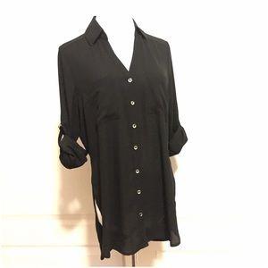 b8ec3dd8 Express Tops | New Black Portofino Shirt Tunic Blouse S | Poshmark