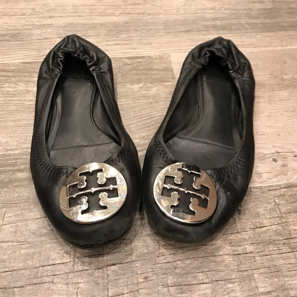Tory Burch Shoes - Tory Burch Black Riva Flats