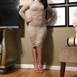 Fashion Nova Dresses & Skirts - Hot miami styles rushed nude sexy dress