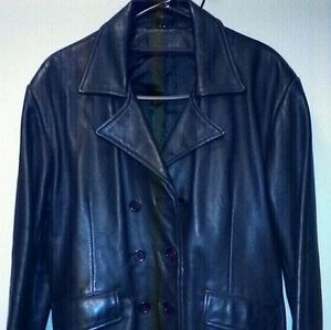 Leather Crown Jackets & Blazers - Classic Leather Jacket