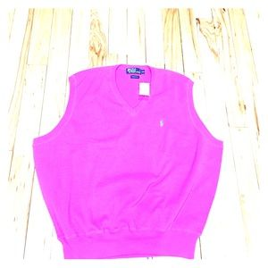 Polo by Ralph Lauren Other - Polo men's spring pink vest nwt $79.50 sz xxl